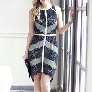 Dresses - Lace dress with ivory trim